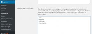 Bloquear spam wordpress en formulario de contacto