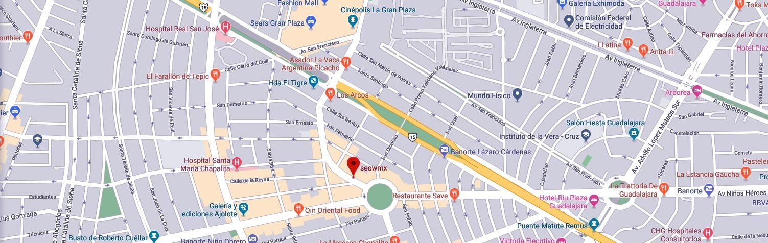agencia seo mexico dirección mapa